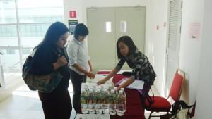 イベント開催当日の参加受付の模様