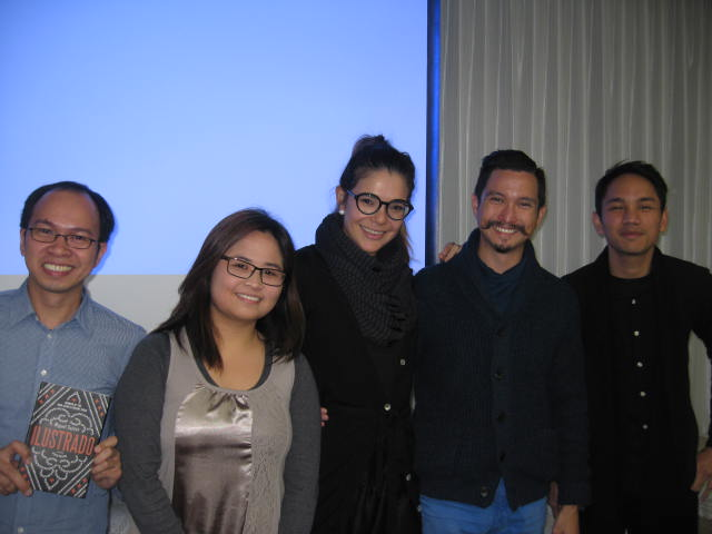 Right to left, CSEAS Postdoctoral Fellow Lisandro Claudio, Dr. Miguel Syjuco and Edith Syjuco, with Filipino graduate students from Kyoto University and Doshisha University.