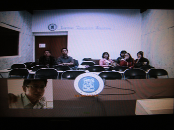 remote video lecture to ITB