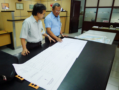 Maps collected at the Indonesian Geo-spatial Authority Office