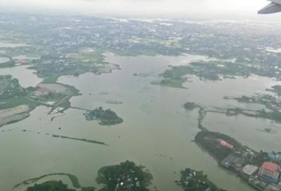 Summer Monsoon Flood in Dhaka of August, 2012