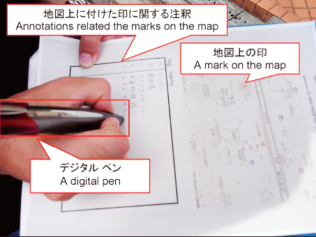An example of a digital pen in use while in the field