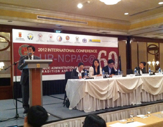 Assoc. Prof. Nishimura, presenting the paper on Philippine local governance at the 2012 International Conference UPNCPAG@ 60 in Manila in June