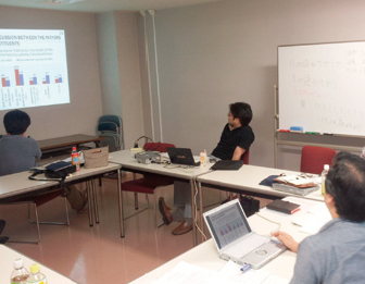 Study meeting at Meiji University in Tokyo in 26 July, 2012