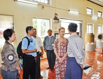 In the Museum of Ancient City Srikshetra, Pyay on 22, August 2012
