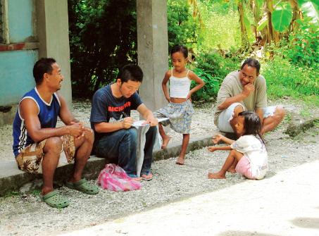 農業に関するインタビュー調査(ミクロネシア連邦ピンゲラップ環礁)
