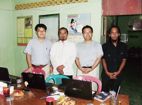 Photo of Authors at Solon Branch Office of Pattiro in Solo City, Indonesia July 22, 2010