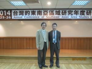 Hsin-Huang Michael Hsiao先生(中央研究院)、河野泰之(東南アジア研究所)