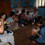 カリンにて昼食 Lunch in Khaling