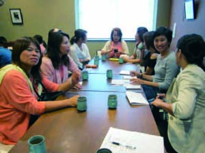 Group discussion with Thai women in Ishinomaki