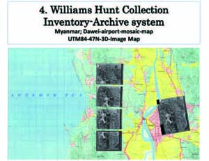 Williams Hunt Collection Inventory-Archive system organize the relationship with 4D IMADAS, using British Royal Air Force aerial photos, in the format of film and photo-print.