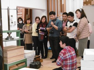 Overviewed Material preservation at the Historiographical Institute, The University of Tokyo. Lectured by Takashima Akihiko (Assistant Prof. of Historiographical Institute)