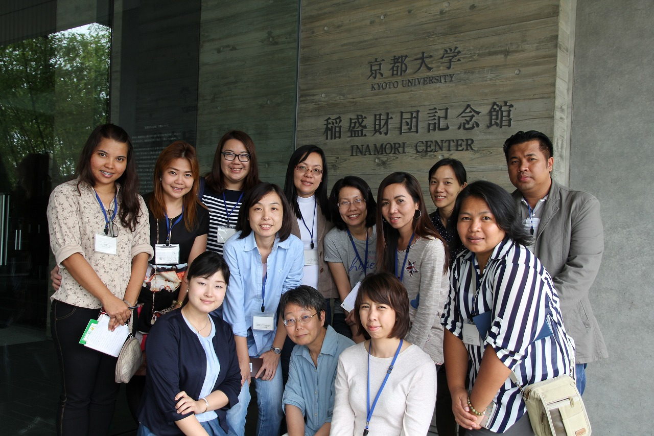 Memorial group photo in the entrance of Inamori building (Cente for Southeast Asian Studies, Kyoto University)