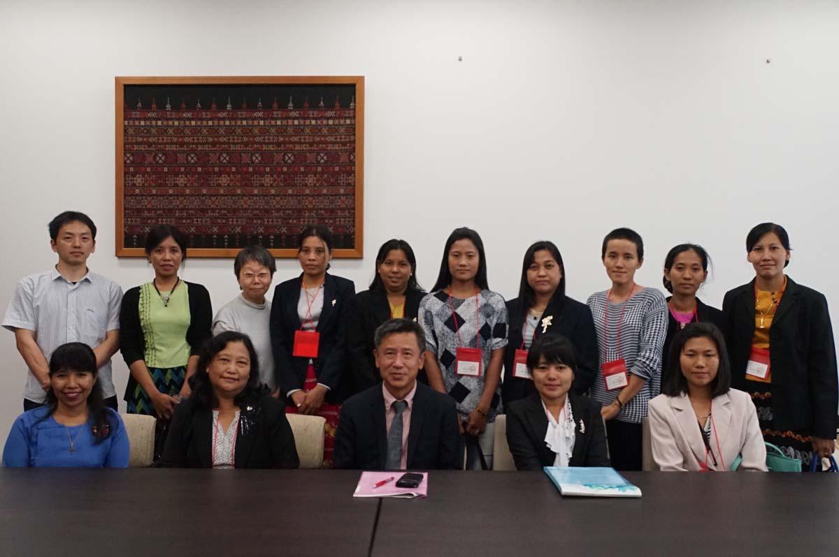 東南アジア研究所、河野所長表敬訪問の様子2(東南アジア研究所・東南亭)