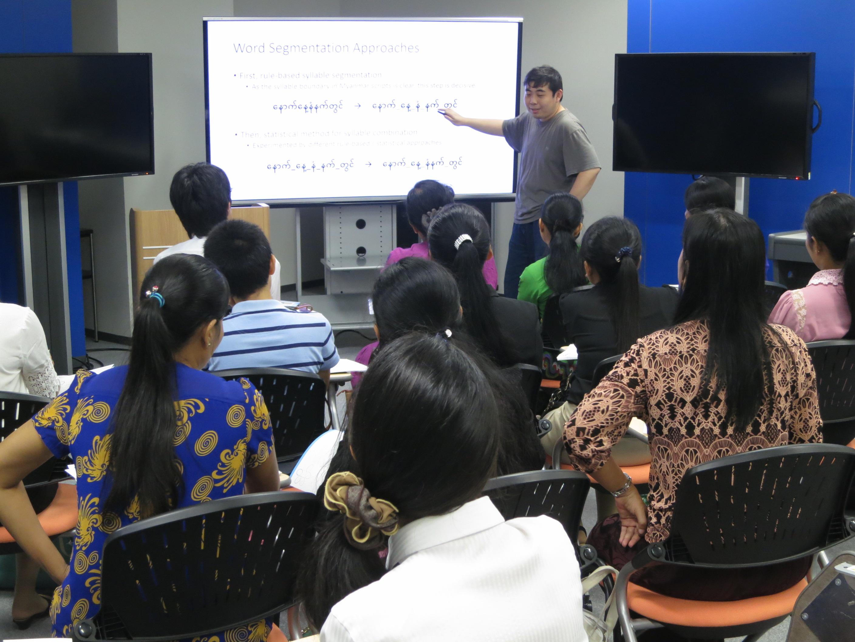 ビルマ語搭載多言語自動翻訳技術開発とその運用についてを研修2(国立研究開発法人情報通信研究機構ユニバーサルコミュニケーション研究所)