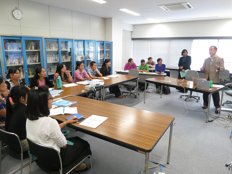 ビルマ語搭載多言語自動翻訳技術開発とその運用についてを研修3(国立研究開発法人情報通信研究機構ユニバーサルコミュニケーション研究所)