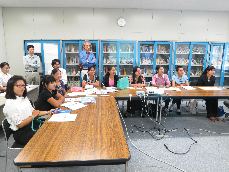 ビルマ語搭載多言語自動翻訳技術開発とその運用についてを研修1(国立研究開発法人情報通信研究機構ユニバーサルコミュニケーション研究所)