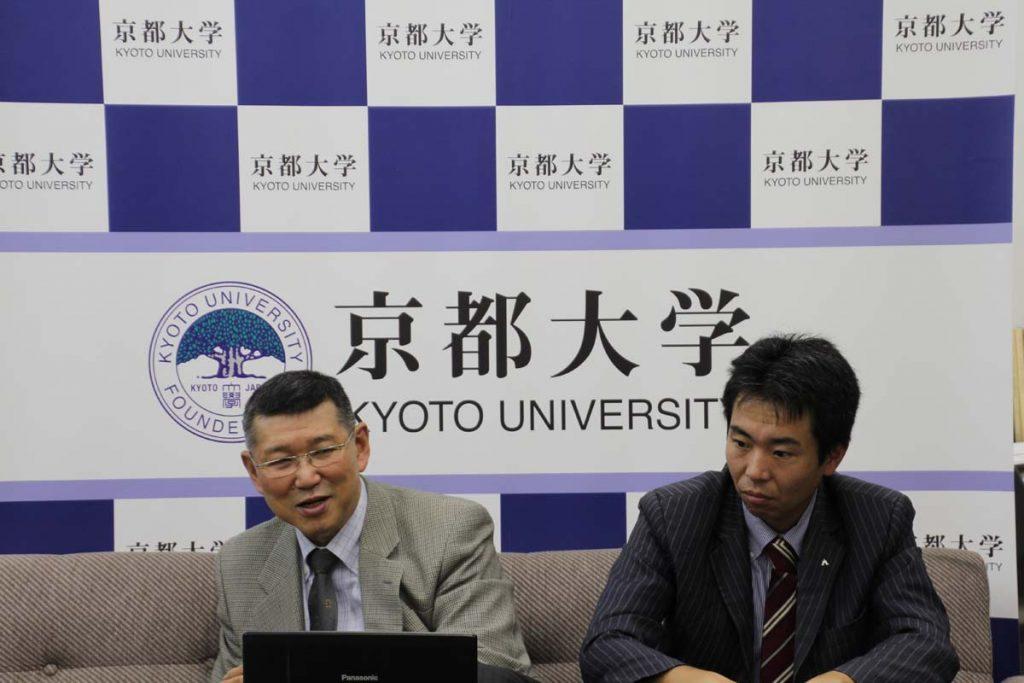 写真左から 東南アジア研究所 西渕光昭教授 / 株式会社かわかみ 山下泰治氏(共同研究者)